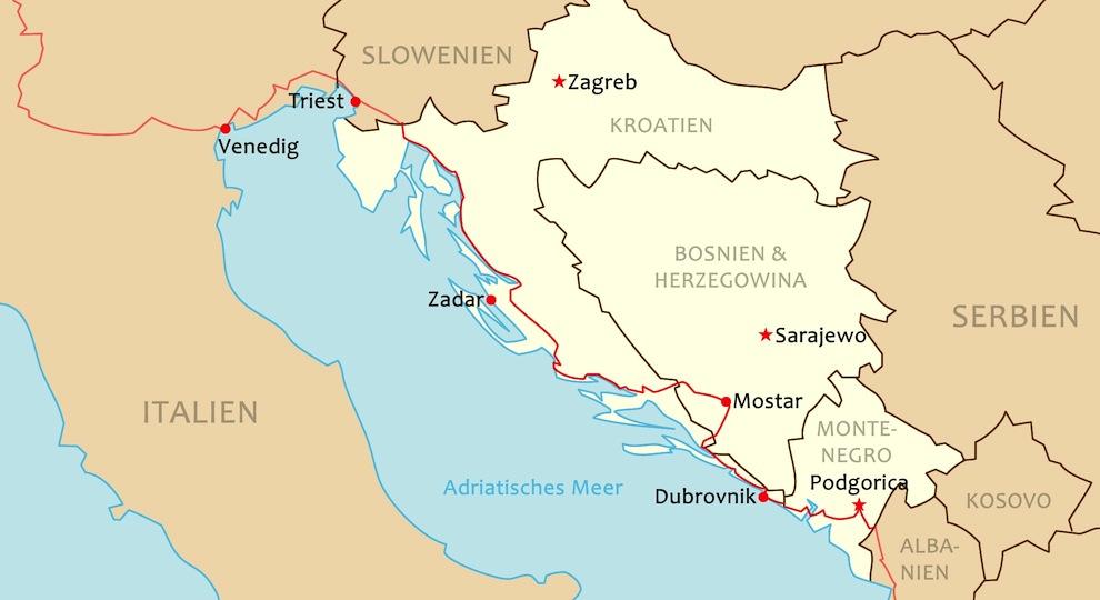 Karte Montenegro Kroatien.Karte Bosnien Kroatien My Blog